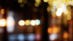 Город освещает Bokeh Defocused предпосылка ночной жизни стоковые изображения