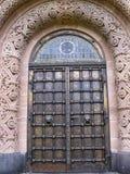 Евангелическая церковь входной двери спасителя, в Gerolstein, Германия стоковое изображение rf