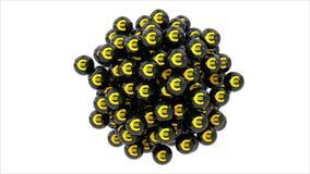 Евро валюты иллюстрация вектора