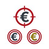 Евро на цели иллюстрация вектора