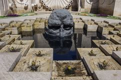 Ереван, Армения -07 15 2016: Комплекс фонтана стоковые изображения