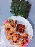 Жареная курица риса ручки стоковые изображения rf
