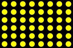 Желтые круги на черной предпосылке абстрактная предпосылка делает по образцу безшовное иллюстрация вектора