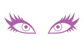 Женский значок глаза иллюстрация штока