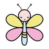 Животное насекомого бабочки цвета милое с крыльями бесплатная иллюстрация