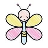 Животное насекомого бабочки Doodle милое с крыльями бесплатная иллюстрация