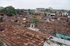 Жильцы трущобы Cossipore на Kolkata стоковое фото rf