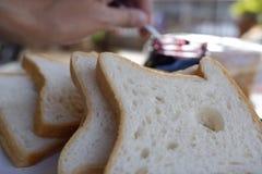 завтрак хлеба стоковое изображение rf