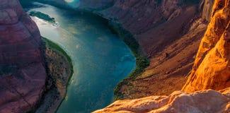 Загиб подковы в национальном парке гранд-каньона, Аризоне, Соединенных Штатах Америки стоковые фото