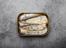Законсервированные рыбы в олове стоковое изображение rf