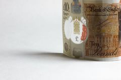 заметьте фунт 10 накрените Англия стоковое изображение