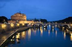 Замок Анджела Святого, Рим, Италия стоковая фотография rf