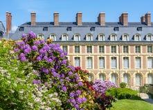 Замок de Фонтенбло дворца Фонтенбло, Франция стоковая фотография rf