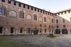 "Замок Sant ""Angelo Lodigiano, Италии стоковое изображение"