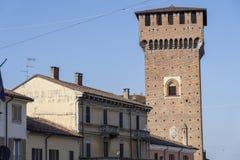"""Замок Sant """"Angelo Lodigiano, Италии стоковые фото"""