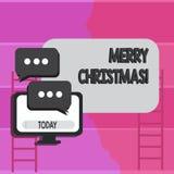 Запись примечания показывая веселое рождество Торжество декабрь курортного сезона фото дела showcasing иллюстрация штока