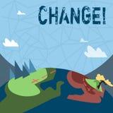 Запись примечания показывая изменение Изменение перехода изменения диверсии регулировки изменения фото дела showcasing иллюстрация вектора