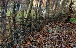 Заплетенная деревянная загородка стоковое изображение