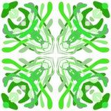 Запутанность зеленой травы, водорослей иллюстрация штока