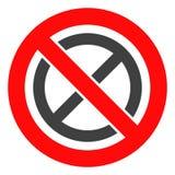 Запрещенный вектором значок запрета иллюстрация вектора