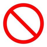 Запрещенный шаблон знака запрета иллюстрация вектора