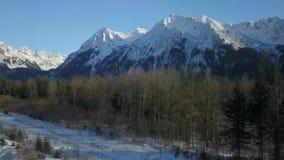 Захватывающие виды от верфи в Аляске сток-видео