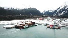 Захватывающие виды от верфи в Аляске видеоматериал