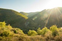 Заход солнца в Ahrtal стоковая фотография rf