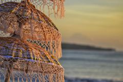 Заход солнца в Jimbaran Бали стоковое изображение