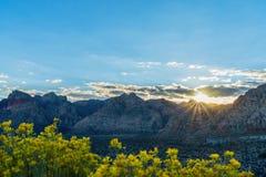 Заход солнца над долиной смерти стоковое фото rf