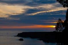 Заход солнца побережья Mendocino стоковые фотографии rf