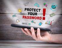 Защитите ваш пароль стоковое изображение rf