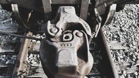 Заржаветое соединение вагона стоковая фотография rf