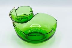 Зеленый набор закуски шара обломока и погружения стоковые изображения