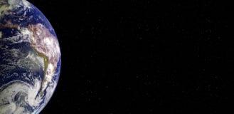 Земля планеты и знамя Южной Америки от космоса вечером стоковые фото