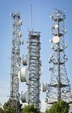 зима башни радиосвязи ночи moscow dmitrov города зоны стоковое изображение