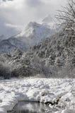 Зима. The photo was taken in North Ossetia, in the Digor gorge Stock Image