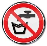Знак запрета отсутствие питьевой воды иллюстрация штока