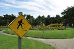 Знак на саде стоковые фото