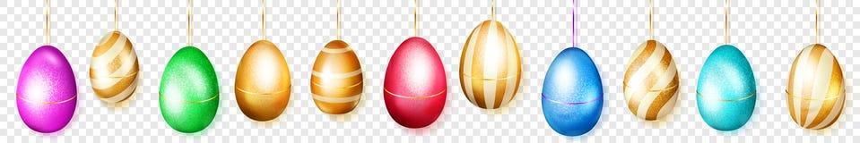 Знамя висеть покрашенные пасхальные яйца бесплатная иллюстрация