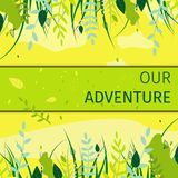 Знамя квадрата плоское наши весенние каникулы приключения иллюстрация штока