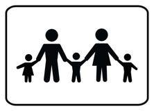 Значок-вектор семьи иллюстрация вектора