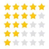 Значок иллюстрации вектора пятизвездочный классифицируя Изолированное собрание значка для вебсайта или приложения иллюстрация штока