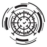 Значок перекрестия, простой стиль иллюстрация вектора