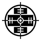 Значок перекрестия, простой стиль иллюстрация штока