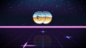 значок дизайна synthwave ретро евро бесплатная иллюстрация