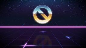 значок дизайна synthwave ретро запрета иллюстрация штока