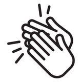 Значок рукоплескания clapping руки бесплатная иллюстрация