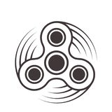 Значок обтекателя втулки непоседы - игрушка для улучшения сброса стресса объема внимания Заполненный с серым цветом Изолированный бесплатная иллюстрация