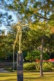 Золотой лучник сад скульптуры в музее изобразительных искусств Нового Орлеана (NOMA стоковая фотография